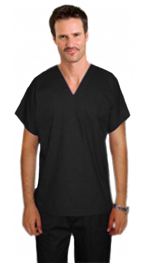 Stretchable Scrub set 4 pocket v neck unisex reversible half sleeve (1 pocket top 1 pocket pant) & 2 inside pockets in 97% Cotton 3% Spandex