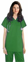 Scrub set 4 pocket unisex solid half sleeve (1 pocket top, 3 pocket pant)