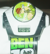 Ben10 stylish black and green color watch with light