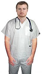 Twill scrub set 6 pocket solid unisex half sleeve  (3 pocket top 3 pocket pant)