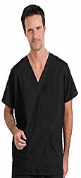 Scrub set 4 pocket solid unisex cargo with pencil pocket top half sleeve (1 pkt top with pencil pkt, 1cargo pkt 1 back pkt pant)