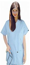 Scrub set 8 pocket normal unisex solid half sleeve (3 pocket top 5 pocket pant)