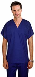 Scrub set 4 pocket v neck unisex reversible half sleeve (1 pocket top 1 pocket pant) & 2 inside pockets