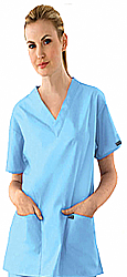 Scrub set 7 pocket v neck ladies half sleeve(2 pocket top 5 pocket pant)