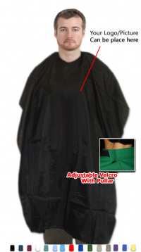 Barber cape in poplin fabric