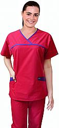 A_ set horizontal crossover 4 pocket set half sleeve