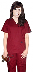 Scrub set 5 pocket solid ladies half sleeve (top 2 pocket with 1 pencil pocket and pant with 2 cargo pocket)