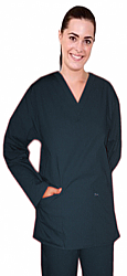 Scrub set 4 pocket solid ladies full sleeve (2 pocket top and 2 pocket pant)