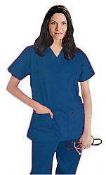 Scrub set 5 pocket ladies solid half sleeve (2 pocket top, 3 pocket pant)